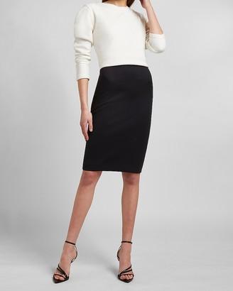 Express Super High Waisted Supersoft Double Knit Pencil Skirt