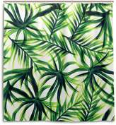 """Sunlome Tropical Palm Leaves Printed Fabric Resistant Waterproof Shower Curtain with 12 C-Rings, 66"""" By 72"""""""