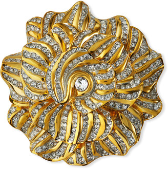 Kenneth Jay Lane Rhinestone Flower Pin