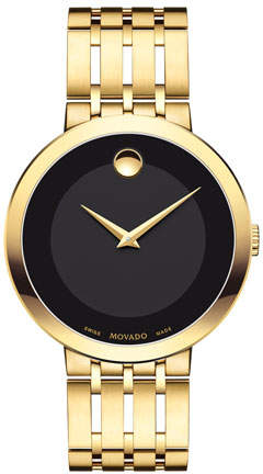 Movado 39mm Esperanza Watch, Gold
