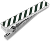 Ox and Bull Trading Co. Varsity Stripes Green and White Tie Clip