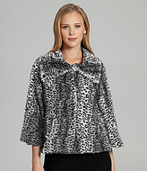 Collection 18 Patricia Faux Fur Swing Jacket
