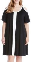 Karen Kane Plus Size Women's Colorblock Cold Shoulder Dress