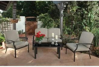 Alcott Hillâ® Alves 4 Piece Complete Patio Set with Cushions Alcott HillA