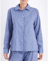The Sleep Shirt Striped Cotton Pyjama Shirt