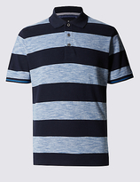 Blue Harbour Pure Cotton Tailored Fit Striped Polo Shirt