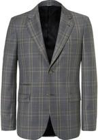Stella McCartney Grey Slim-Fit Prince of Wales Checked Wool Suit Jacket