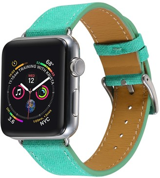 Turquoise Posh Tech Linen 42mm Apple Watch 1/2/3/4 Band