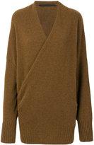 Haider Ackermann v-neck wrap front jumper