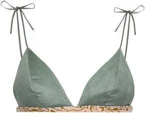 LOVE Stories Ruffle-trimmed Floral-print Triangle Bikini Top