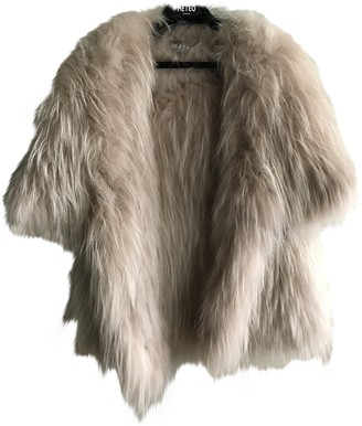 Meteo Beige Fur Coat for Women