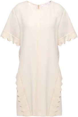 Chloé Scalloped Crepe Mini Dress