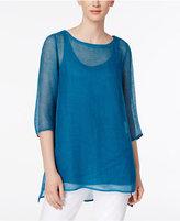 Eileen Fisher Organic Linen-Blend Tunic, Regular & Petite