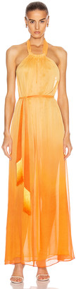Jonathan Simkhai Ombre Halter Maxi Dress in Amber Ombre | FWRD