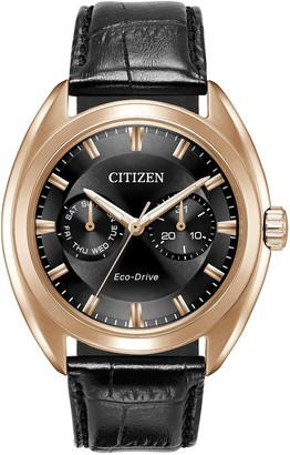 Citizen Men's Paradex Eco-Drive Croc-Embossed Leather Strap Watch, 44mm