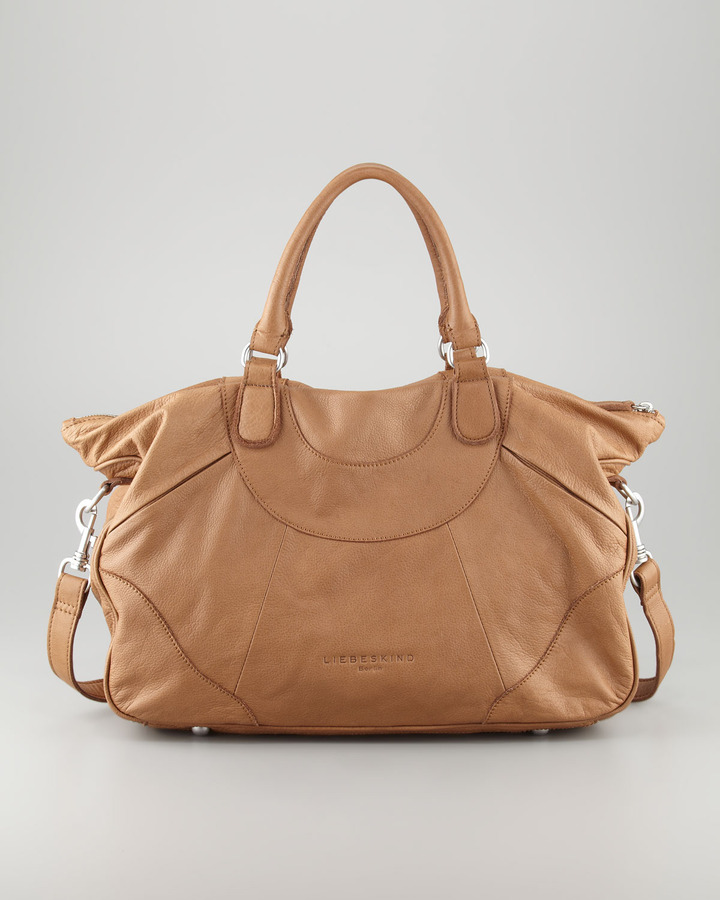 Liebeskind Soft Leather Tote Bag, Beige