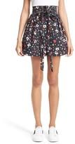 Marc Jacobs Women's Floral Cotton High Waist Shorts