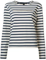 Marc Jacobs striped studded jersey - women - Cotton - XS