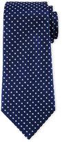 Armani Collezioni Neat Circle-Dot Printed Tie, Navy