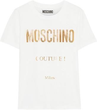 Moschino Metallic Printed Cotton-jersey T-shirt