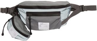 Satisfy Grey Reflective Logo Belt Bag