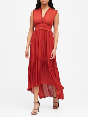 Banana Republic Soft Satin Maxi Dress
