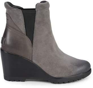 Sorel After Hours Suede Wedge Chelsea Boots