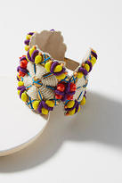 Anthropologie Beaded Medallion Bracelet