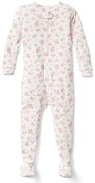 Floral footed sleep one-piece