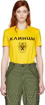 Junya Watanabe Yellow Crest T-shirt