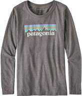 Patagonia Pastel P-6 Logo T-Shirt - Long-Sleeve - Girls'