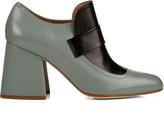 Marni Leather block-heel pumps