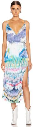 Amiri Tie Dye Wrap Tank Dress in Multi Color | FWRD
