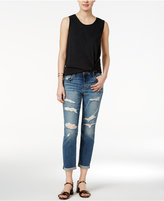 Joe's Jeans Ripped Cotton Kency Wash Boyfriend Jeans