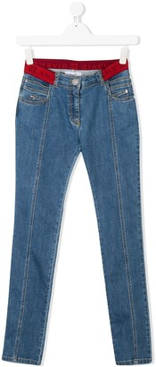 Givenchy Kids TEEN elastic skinny-fit jeans
