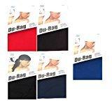 Dream Deluxe Spandex Du-Rag - Get All 5 Colors, Lightweight, long tail, extra long, turban, cap, bandana