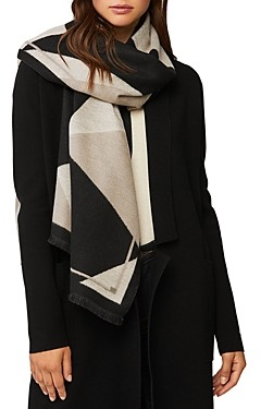 Soia and Kyo Ashlyn Woven Color Blocked Scarf