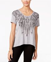 Jessica Simpson Scoop-Back Graphic T-Shirt
