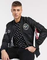 Alpha Industries MA-1 flight nylon reversible jacket-Black