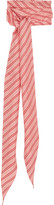 Balenciaga Striped Silk-twill Scarf - Red
