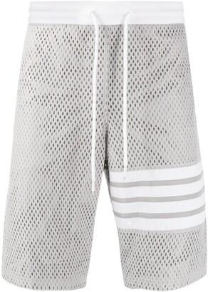 Thom Browne mesh track shorts