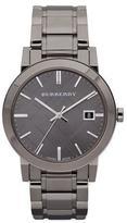 Burberry Sunray Check Watch, Light Gray
