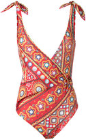 Moschino embroidery print swimsuit