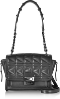 Karl Lagerfeld K/Kuilted Black Leather Mini Handbag