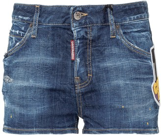 DSQUARED2 Icon Patch Denim Shorts