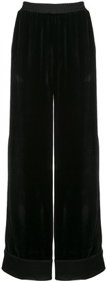 Mary Katrantzou wide-leg velvet high trousers