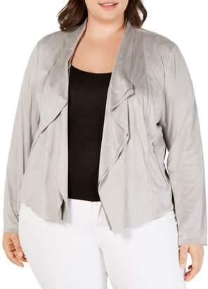 INC International Concepts Plus Draped Open-Front Jackets