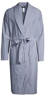 Hanro Lynel Woven Striped Cotton Robe