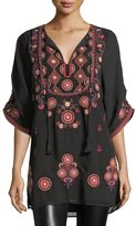 Tolani Khalisse Half-Sleeve Embroidered Tunic, Plus Size