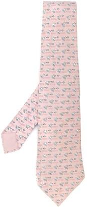 Hermes Pre-Owned Silk Frog Print Tie